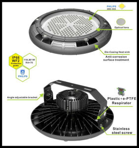 130lm/W Round LED Industrial Light 180W UL Listed High Bay Light with Free Shipping