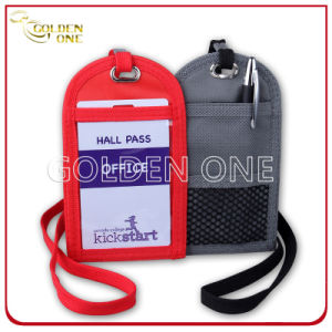 Hot Selling Superior Polyester Badge Holder with Lanyard pictures & photos