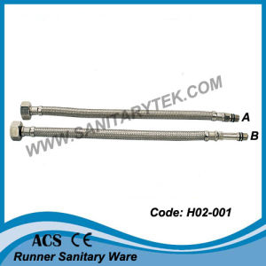 Flexible Hose in Stainless Steel Wires Braided for Mixers (H02-001) pictures & photos