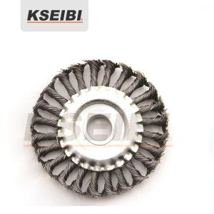 Kseibi Twist Knot Wire Wheel Brush with Nut pictures & photos
