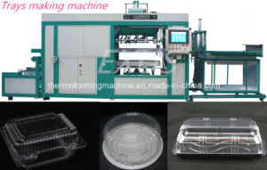 Cake Cups and plastic Tray Intelligent High Speed Automatic Vacuum Thermo Forming Making Machine pictures & photos