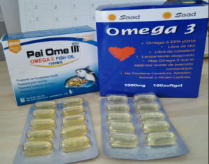 Dietay Supplement, Omega 3 Softgel Capsules, Fish Oil 1000mg pictures & photos