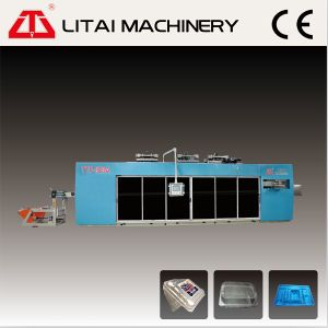 Four Station Plastic Thermoforming Machine for Box pictures & photos
