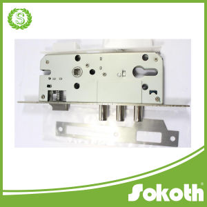 Interior Door Security Lock Mortise Lock Body Key Lock, Three Round Bolt Lock pictures & photos