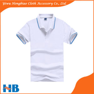Popular Short Sleeve Blank Pure Cotton Fitted Men′s Polo T Shirt