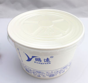 FDA Standard Disposable PLA Coated Paper Bowl for Food 500ml, 680ml, 960ml pictures & photos