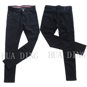 New High Quality Fashion Men′s Denim Black Jeans (HDMJ0058) pictures & photos