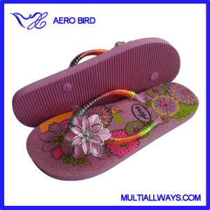 Fashion Flower Strap Women EVA Sandal Girls Flip Flop pictures & photos