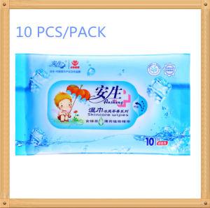 10 PCS Green Tea Fragance Disposable Cotton Non-Woven Wet Wipe pictures & photos