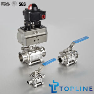 Sanitary Stainless Steel Encapsulated Ball Valves pictures & photos