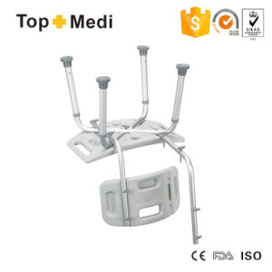 Height Adjustable Medical Shower Bath Chair Bathtub Stool Detachable Backrest pictures & photos