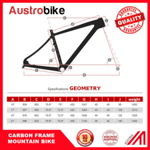 Carbon Mountain Bicycle Frame Made in China, Carbon Bike Frame pictures & photos