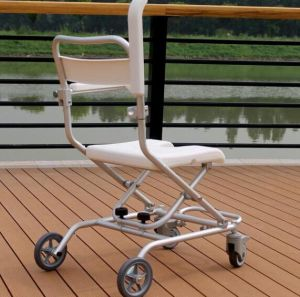 Aluminum Economical Price Portable Folding Safety Bath Bench Shower Chair for Disabled with Wheels pictures & photos