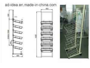 Durable Modern Design Metal Display /Display with Casters (ADS-89) pictures & photos