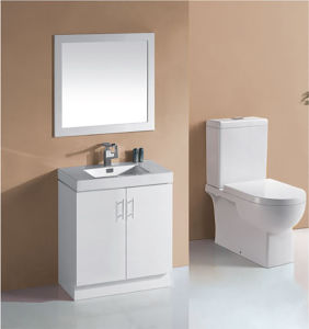 White Gloss MDF Bathroom Vanity with Soft Close (P6011-600W) pictures & photos