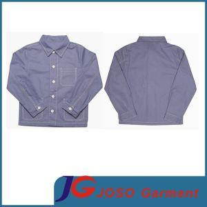 Long Sleeve Children Garment Kids Wear Blue Shirt (JT8132) pictures & photos