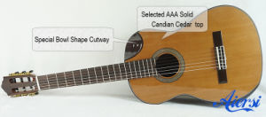 China Aiersi High Quality Solid Top Spanish Classical Guitar Sc02crcn pictures & photos