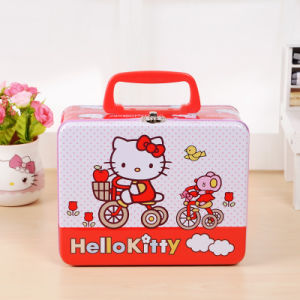 Lunch Metal Box with Handle pictures & photos