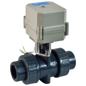 Intelligent Electrical Actuator PVC Valve Electric Flow Control PVC Water Ball Valve (A100-T25-P2-C) pictures & photos