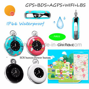 2017 Waterproof Round Screen GPS Tracker with Time Display Pm03 pictures & photos