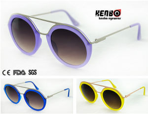 New Coming Fashion Round Frame Sunglasses CE FDA Kp50732 pictures & photos