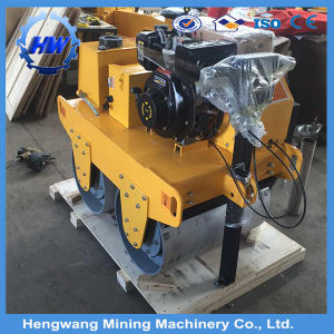 550kg Low Price Walk Behind Steel Double Drum Road Roller pictures & photos