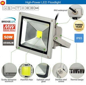 50W Integrated High-Power LED Flood Light with Road