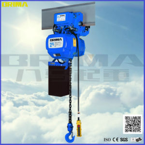 Fixed Type 3ton High Grade Electric Chain Hoist Trolley with Hook pictures & photos