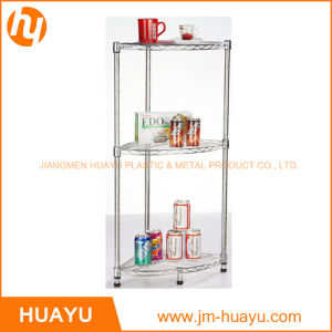 3 Tier Wire Chrome/Powder Coated Bathroom Corner Shelving pictures & photos