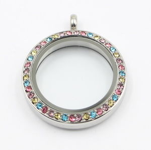 Screw on Glass Face Stainless Steel Floating Locket Pendant with Floating Charms pictures & photos