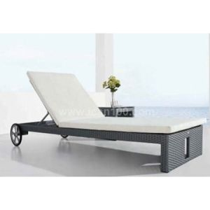 Water-Proof White Rattan Chaise Lounge (SL-07020) pictures & photos