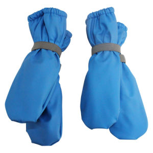 Solid Blue PU Rain Mitten for Baby/Child pictures & photos