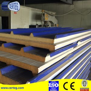 50mm Heat Insulation Board Corrugated PU Sandwich Roofing Board/Panel pictures & photos