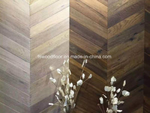White Oak Chevron Flooring French Pattern Solid Wood Parquetry Flooring pictures & photos