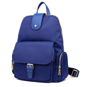 Ladies Girls Women′s Outdoor Fashion Travel Shoulder Nylon Leisure Backpack pictures & photos