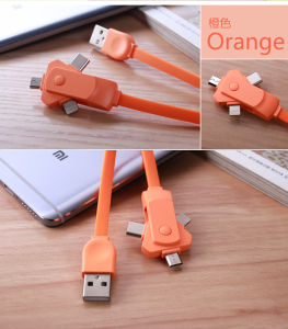 3 in 1 USB Cable Micro/8pin/Type C Sync Data Cable pictures & photos