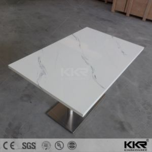 Dining Furniture Artificial Stone Marble Restaurant Coffee Table (171004) pictures & photos