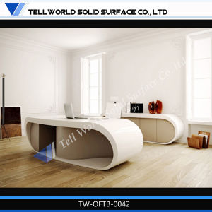 White High Gloss Used Home Office Tall Office Desks for Sale pictures & photos