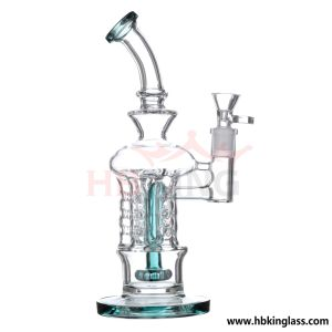 K249 China Fast and Safety Delivery Tobacco Recylcer Tall Glass Water Smoking Pipe Manufacture pictures & photos