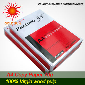 100% Wood Pulp A4 Paper 70g (CP0011) pictures & photos