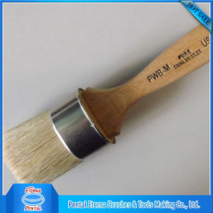Wooden Handle Oval Brush with White Bristle pictures & photos