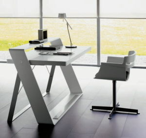 Acrylic Solid Surface Touch Comfortable Folding Computer Table/Home Office Table pictures & photos