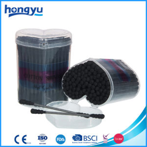 120 PCS Black Stick and Cotton Swab in Small Heart PP Box pictures & photos