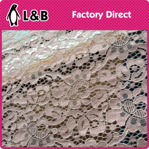 Fashion New Style Embroidery Rose Flower Lace Fabric pictures & photos