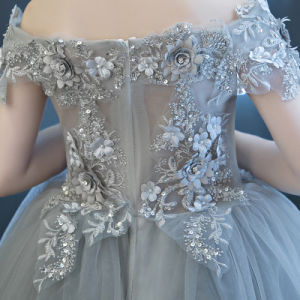 Elegant off Shoulder Pageant Gown Girl Dress pictures & photos