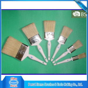 White Wooden Handle White Bristle Paint Brush pictures & photos