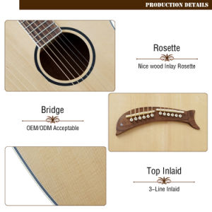 Aiersi Factory New Developed Harp Acoustic Guitar pictures & photos