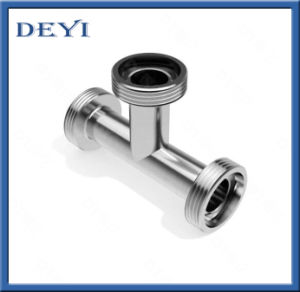 3A 304/316L Sanitary Thread Equal Tee (DYTF-034) pictures & photos