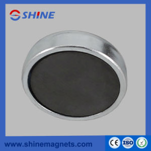 Plating Zinc Round Base Magnet Pot Magnets with Thread Rod pictures & photos