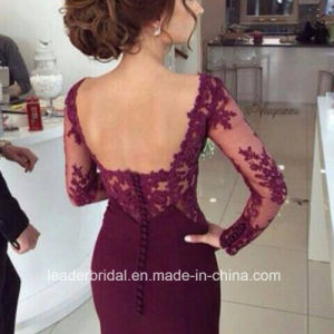 Long Sleeve Prom Prom Gowns Spandex Mermaid Evening Dress W147196 pictures & photos